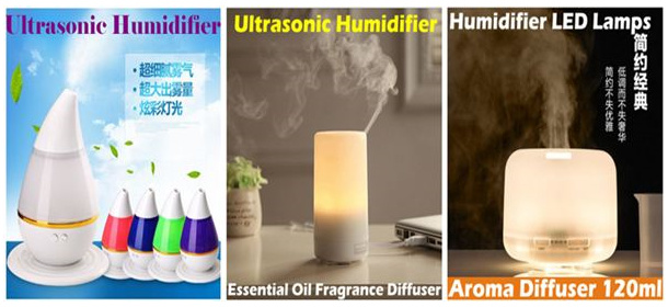 LED Night Light USB Mini Ultrasonic Aromatherapy Essential Oil Diffuser Atomizer Air Purifier Mist
