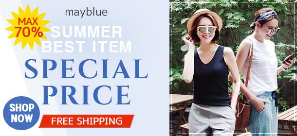 [MAYBLUE] All Items Sale Week! Women's Top, Dresses, Pants, Skirts Big Sale!