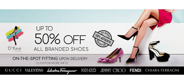 Up to 50% off all Branded Shoes