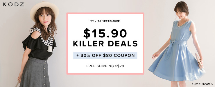 KODZ - $15.90 Killer Deals + $30 Off $80 Coupon + Free Shipping >$35