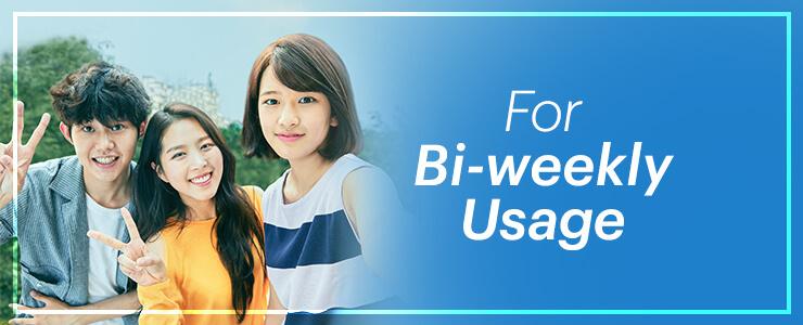 Bi-weekly usage