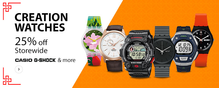 CreationWatches up to 25% Off