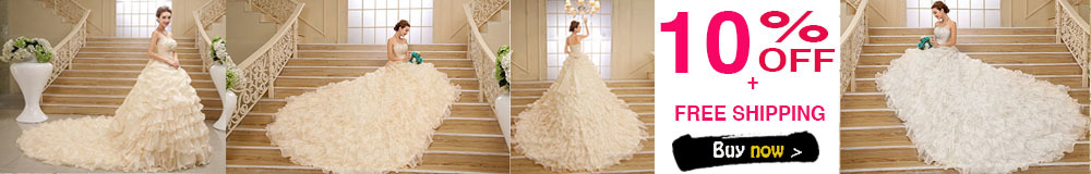 Luxury Ball Gown Wedding Dress Cathedral Train