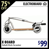 Xboard Adult Scooter - Highly Portable Beautiful Hand-crafted Wooden Adult Kick Scooter