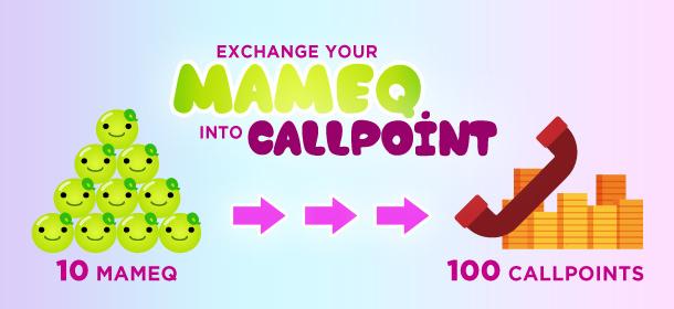 Exchange your Mame Q into Callpoints!
