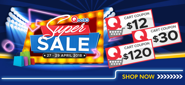 Qoo10 Super Sale 27-29 April Only!