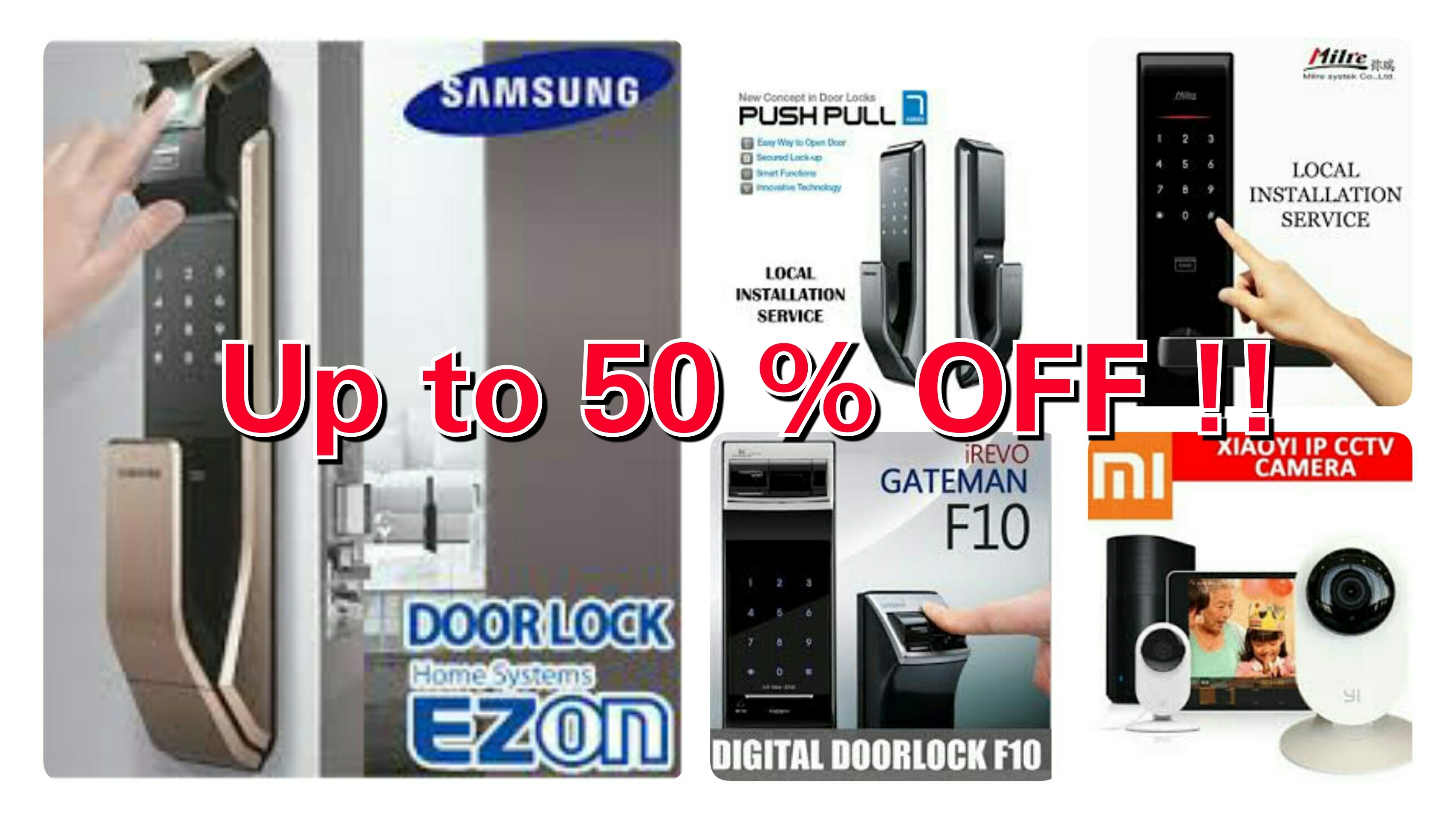 Samsung Gateman Milre Digital Door Lock Ip Camera Gold Keypad Keyless Electronic