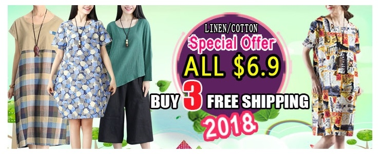 ★Price Down For Super Sale★Real Flat Price!!【Buy 3 Free Shipping】2018 new arrival cotton and linen s