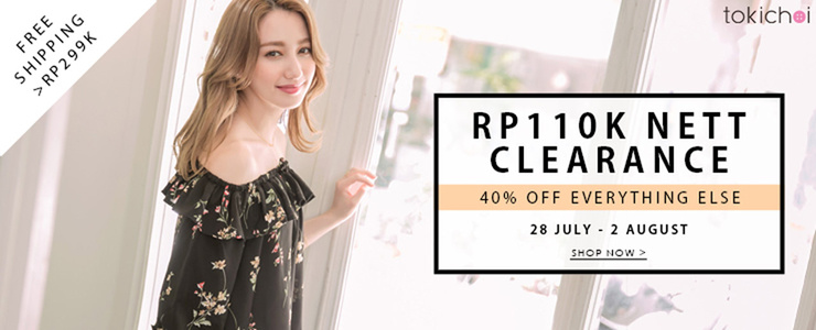 tokichoi - RP110k Clearance Items + Everything Else at 40% Off + Free Shipping >RP299k