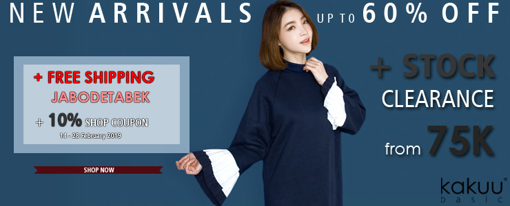 KAKUU BASIC - NEW ARRIVALS + CLEARANCE FROM 75K + 10% COUPON!