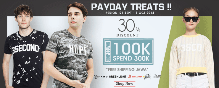 3second - Payday Treat !! 100K Shop Coupon