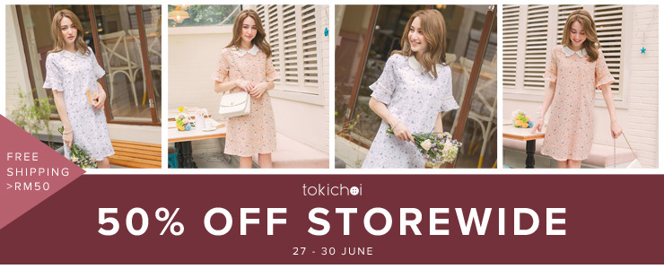 TOKICHOI - 50% Off Storewide + Free Shipping >RM50