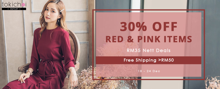 TOKICHOI - 30% Off Red and Pink Items