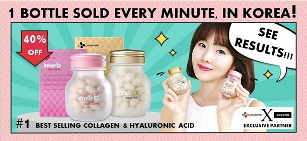 INNER B KOREA'S  #1 PROVEN COLLAGEN