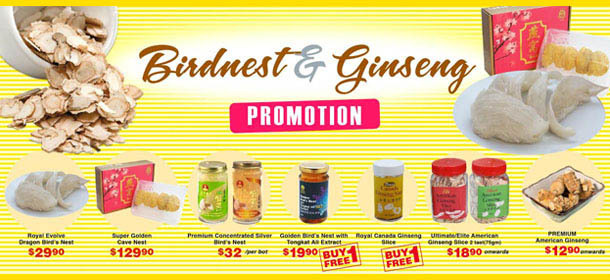Bird's Nest & Ginseng Promotion