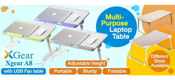 Xgear Foldable Laptop Table