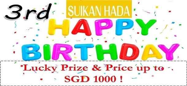 Happy Birthday Sales ! Buy and get Lucky Prizes !