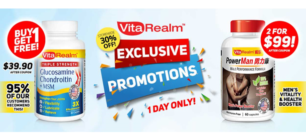 (ONE DAY ONLY) VitaRealm Exclusive Promotions