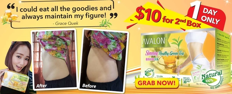 FLATTER TUMMY WITH AVALON HEALTHY SLIMMING GREEN TEA!