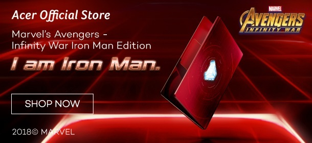 Acer Avengers Iron Man Limited Edition Laptop