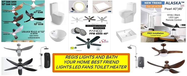 LED.Lights.Toilet Bowls.FANS