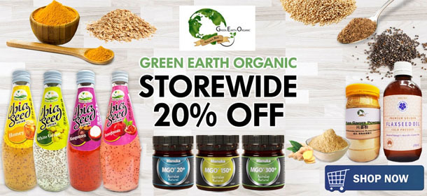 Green Earth Organic 20% OFF!
