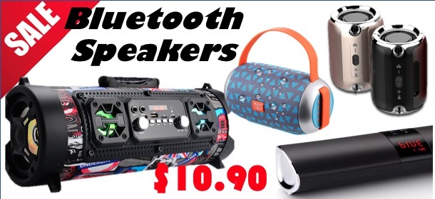 10 MODELS !! BLUETOOTH SPEAKERS ON SALE !!