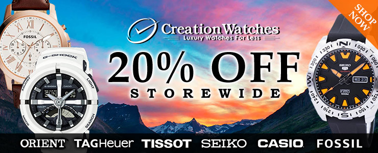 CreationWatches up to 20% Off