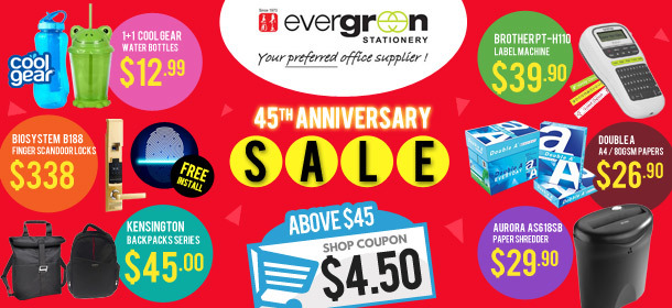 Evergreen 45th Anniversary Sales!