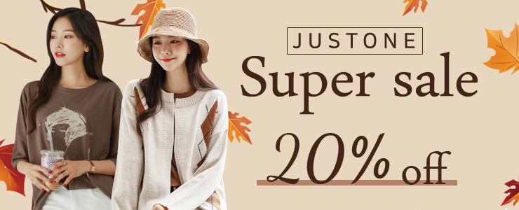 [JUSTONE] 20% SALE on SUPER SALE🧡