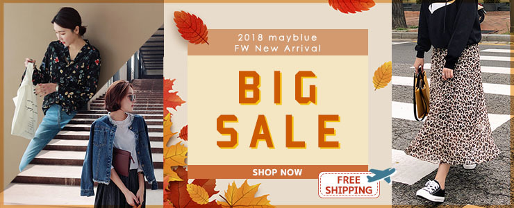 [MAYBLUE] All Items Sale Week! Women's Top, Dresses, Pants, Skirts Big Sale!