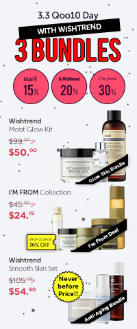 💛3.3 Qoo10 Day X Wishtrend 3 Bundles🤩