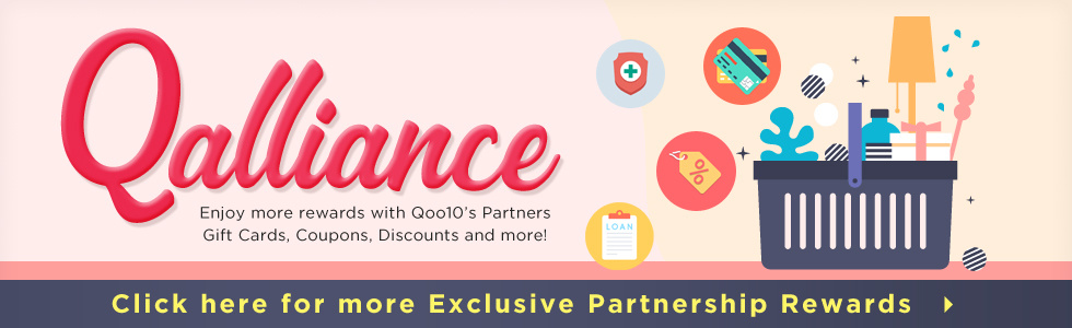 Enjoy shopping more with Qoo10 coupons